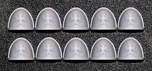 Black Templars - Infantry Shoulder Pads x10 - Mallistone Foundries