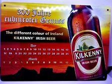 Kilkenny Brauerei Blechschild-  Dauerkalender mit 2 Magneten ca. 21 cm x 14,7 cm