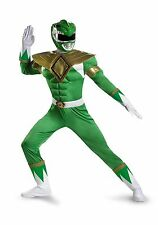 Adult Green Power Ranger Costume size XL with defect