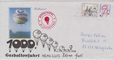 Ballonpost mit Gasballon, 1000. Fahrt Helma Sjuts 2.11.1993