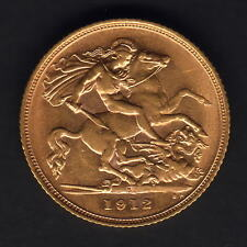 Australia.  1912 Sydney -  Half Sovereign.. Much Lustre..  aEF