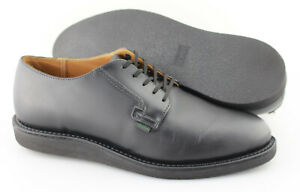 Men's RED WING '101 Postman' Black Leather Plain Toe Oxfords Size US 10.5 - D