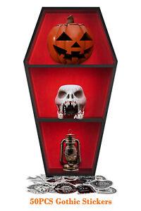Gothic Coffin Shelf Display - Gothic Coffin Shelves Horror Vampire Goth Decor