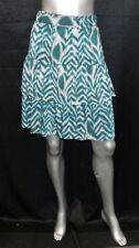 6TH & LANE BRYANT NWT Green & Beige Print Tiered Skirt Plus sz 22/24W $59
