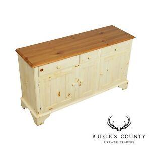 Ethan Allen Farmhouse Pine Painted Sideboard, Buffet