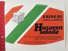 Aufkleber/Sticker: KREKO B.V. Dordrecht-Wageningen - Huzaren Salade (28031645)