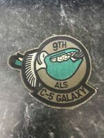 "9th Airlift Squadron Rare 80s Patch 3"" USAF Dover AFB Subdued Cold War C5 Galaxy"