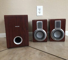 Philips MCD703 Micro Theater System Wood Speakers Subwoofer Bass Home Audio Sub