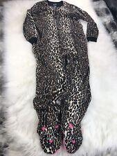 NICK & NORA Cheetah One Piece Union Suit Pajama Leopard Cat Animal XL