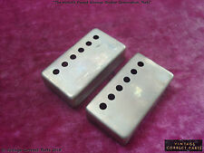 Gibson PAF Pickup Cover Pair - Humbucker VOS - Custom Aged and Relic'd Patent #