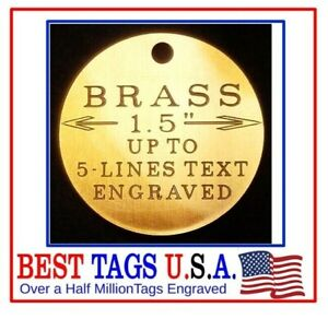 Custom Engraved SOLID BRASS Pet tag Dog puppy Cat kitty ID Name>>$3.95 Shipped!!