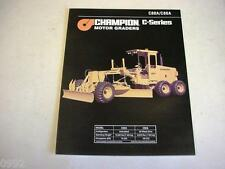 Champion C80A C86A Motor Graders Color Literature b2