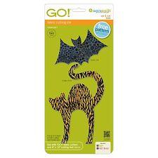 Accuquilt GO! Fabric Cutting Die Cat & Bat  Halloween Quilt Block Die 55365