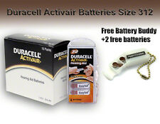 Duracell Hearing Aid Batteries Size 312 + Free Battery Buddy