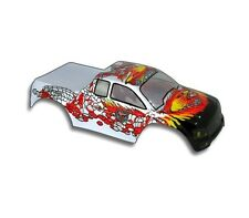 Redcat Racing 1/10 Truck Body Silver and Red for Volcano Part 88015SR