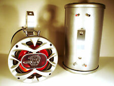 "1200 Watt BOSS Boat Wakeboard Tower Speakers ""Chrome Silver"" -SJS Dezign Polaris"