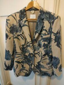 Madeleine linen lined jacket blazer size 20
