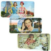 3 Anne Taintor Serving Trays Set Rectangular Plastic Vanity Perfume Food Platter