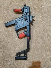 used kwa kriss vector airsoft gbb rifle (black w custom red accents)