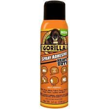 Gorilla Adhesive Spray Nozzle Mist Heavy Duty Permanent Photo Safe 14oz, Clear