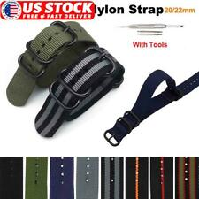 20/22mm Nylon Fabric Stainless Steel Buckle Watch Bands Army Military Watch Band