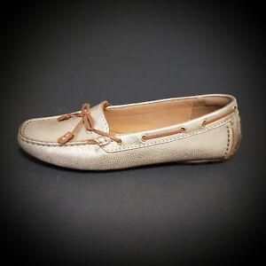 Clarks Schuhe Mokassins Slipper Originals gold metallic Echtleder NEU