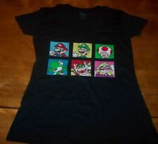 WOMEN'S TEEN Nintendo SUPER MARIO BROS. T-shirt LARGE 11-13 NEW Yoshi Luigi