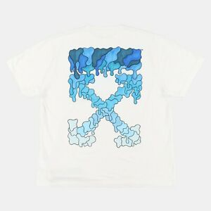 Off-White Blue Marker Arrows T-Shirt   Size S Very Oversized fit SS21 RRP $335