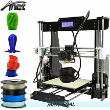 Anet A8 FDM 3D Printer Precision Reprap Prusa i3 DIY & LCD + 1 FREE Filament USA