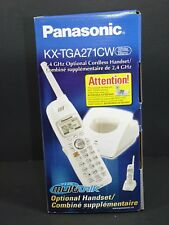 Panasonic 2.4 GHz Optional Cordless Handset KX-TGA271CW (White) --NO BATTERY--