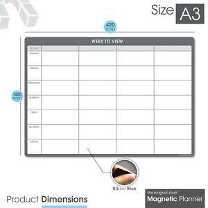 Fridge Weekly Planner Dry Erase Magnetic Calendar Dry Wipe To Do List Whiteboard