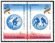 Timbres Sports d'hiver Hockey Roumanie 3155/6 ** lot 20796