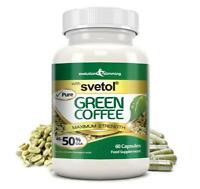 Pure Svetol Green Coffee Bean 50% CGA Fat Burner 60 Capsules Evolution Slimming