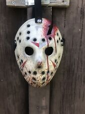 Jason Voorhees Part 4 Blood Splatter Custom Hand Painted Mask -Friday The 13th