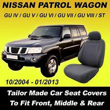 Car Seat Covers For Nissan Patrol Wagon Front & Middle & Rear 10/2004 - 01/2013