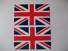 2 x Union Jack Stickers 11cm x 6.5cm UK GB Flag Cars Crafts Free P+P