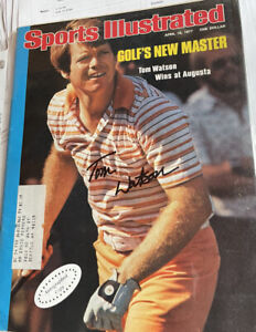 TOM WATSON Autographed/Signed April 18 1977 Sports Illustrated (Masters Victory)