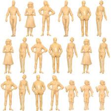 P25B 20pcs Model Trains 1:25 Scale Unpainted Figures LGB G Scale White People
