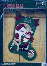 All I Want For Christmas Felt Stocking Kit Bucilla Gallery of Stitches 33095