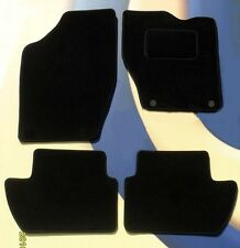 PEUGEOT 307 QUALITY BLACK CAR MATS WITH HOLES FOR RETAINERS.