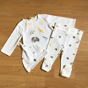 Baby Boy 3-6 Months Clothes New Tags Next 3 Piece Outfit Animals Top Bottoms Hat