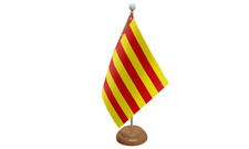 Valencia Spain Spanish Table Flag with Wooden Stand