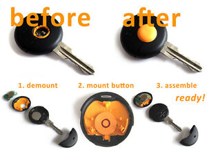 Smart repair replacement button knob for key/remote control MC01 450 ForTwo