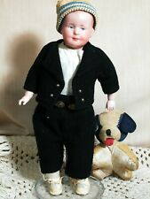 """Antique Rare Doll German All Bisque 5114 Jointed Doll  Intaglio Eyes 6"""""""