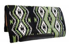 "Showman Western MEMORY FELT 36"" x 34"" SADDLE PAD Navajo Diamond Woven Wool Top"