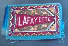 Lafayette University B32 Felt Tobacco Blanket Pennant Style w Fringe 1910s