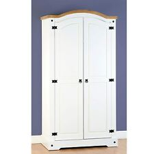 Seconique CORONA White 2 Door Wardrobe Whw018wht