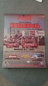 1981 Sebring Race Poster Excellent Condition Corvette Ferrari Porsche MINT