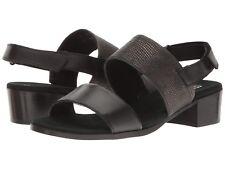MUNRO KRISTAL BLACK LIZARD BLACK 8.5 N NIB $185 WOMENS SANDALS M427088