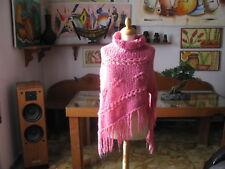 SCIALLE  Donna lana collo alto , colore Rosa antico , taglia M -  Made in Italy